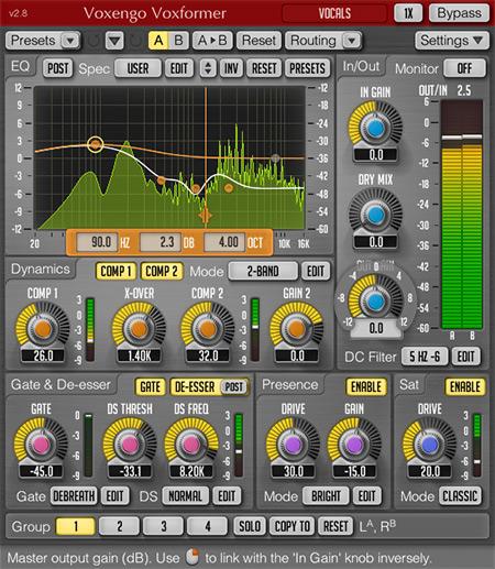 Voxengo Voxformer 2.8 Screenshot
