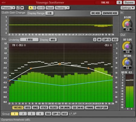 Voxengo Soniformer 3.4 Screenshot
