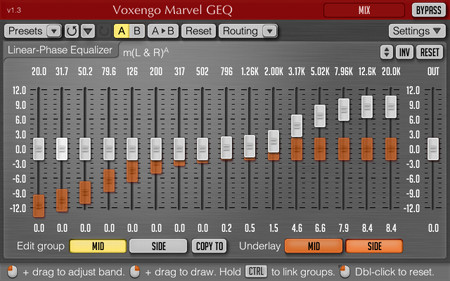 Voxengo Marvel GEQ 1.3 Screenshot