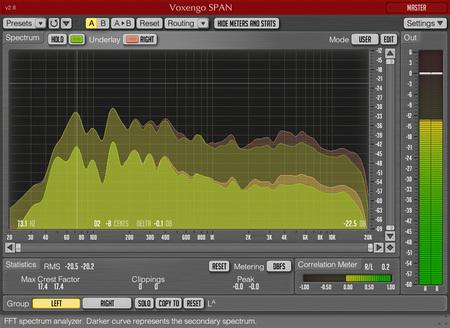 Voxengo SPAN 2.8 Screenshot