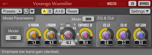 Voxengo Warmifier 2.1 Screenshot
