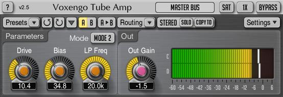 Voxengo Tube Amp 2.5 Screenshot