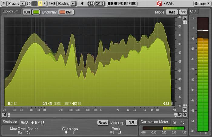 Voxengo SPAN 2.9 Screenshot