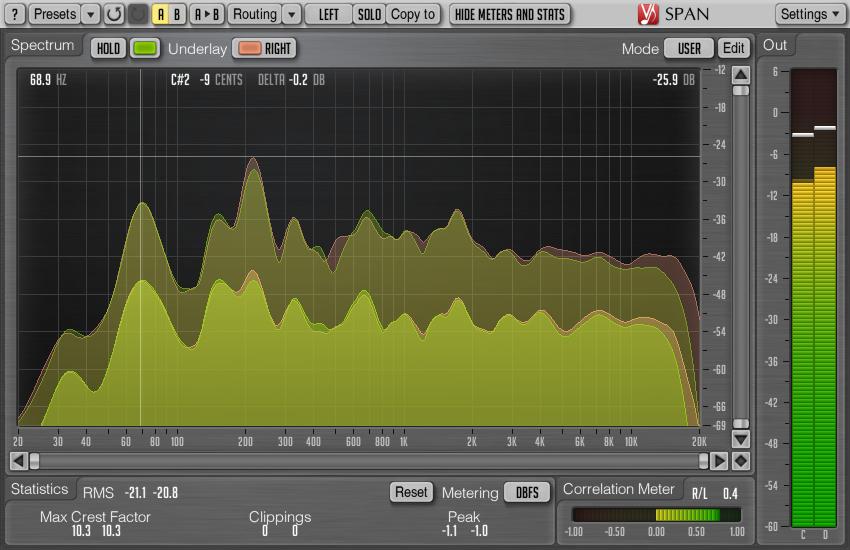 Voxengo SPAN 2 10 FFT spectrum analyzer plugin released
