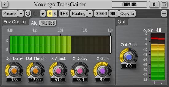 Voxengo TransGainer 1.7 Screenshot