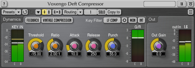 Voxengo Deft Compressor 1.7 Screenshot