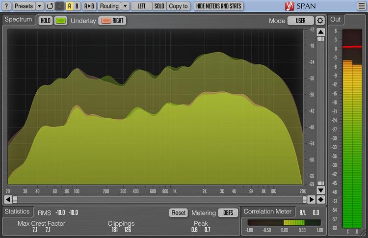 Voxengo SPAN 3.2 Screenshot