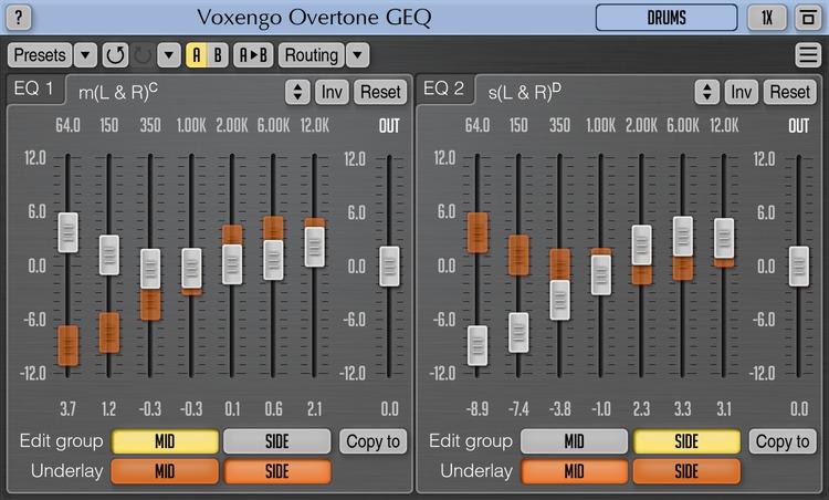 Voxengo Overtone GEQ 1.12 Screenshot