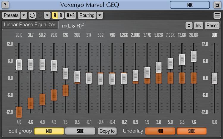 Voxengo Marvel GEQ 1 5 free graphic equalizer plugin