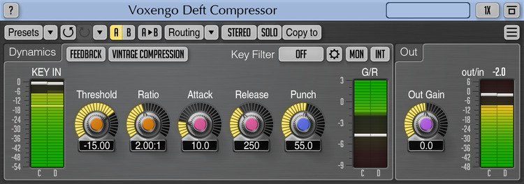 Voxengo Deft Compressor 1.8 Screenshot