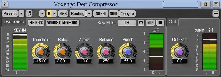 Voxengo Deft Compressor 1.8 Screenshot