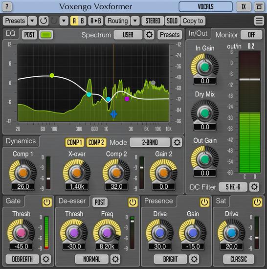 Voxengo Voxformer 2.15 Screenshot