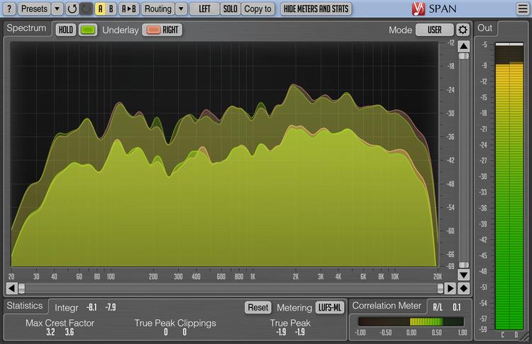 Voxengo SPAN 3.6 Screenshot