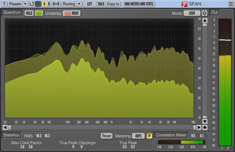 Voxengo SPAN 3.8 Screenshot