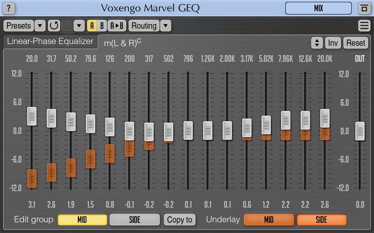 Voxengo Marvel GEQ 1.7 Screenshot