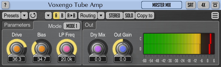 Voxengo Tube Amp 2.7 Screenshot