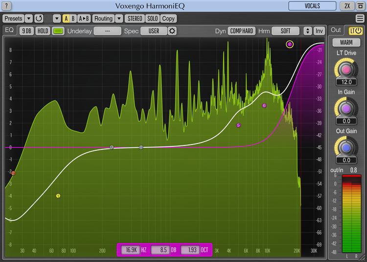 Voxengo HarmoniEQ 2.7 Screenshot