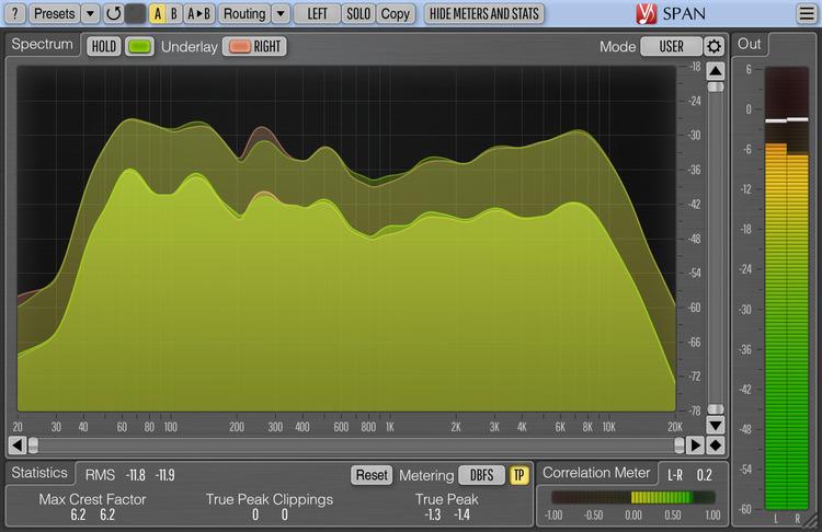 Voxengo SPAN 3.11 Screenshot