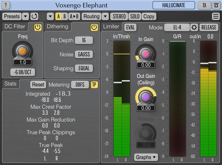 Voxengo Elephant 4.14 Screenshot
