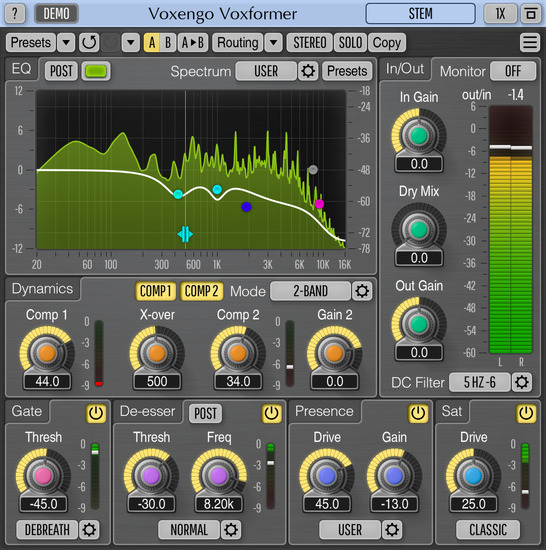 Voxengo Voxformer 2.19 Screenshot