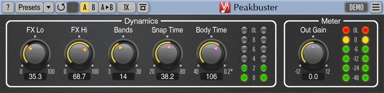 Voxengo Peakbuster 1.0 Screenshot