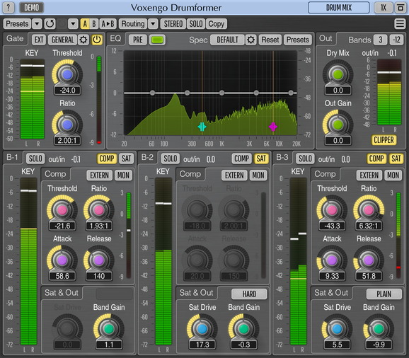 Multiband Drum Track Processing Plugin [VST, AU, AAX