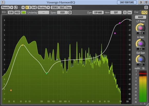 Voxengo HarmoniEQ Screenshot