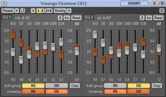 Voxengo Overtone GEQ Screenshot