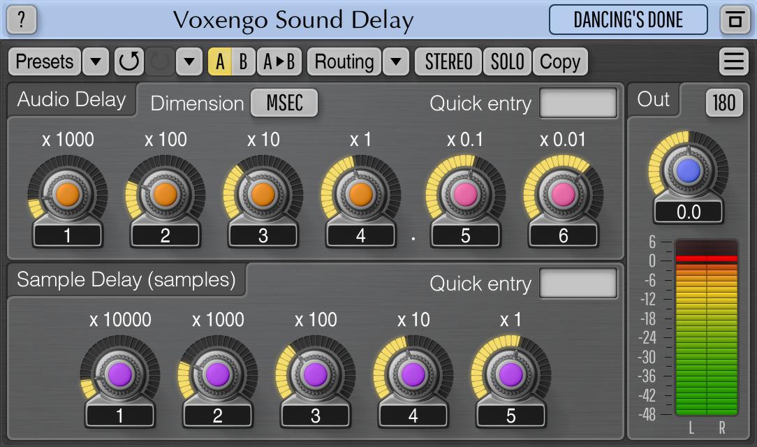 Precise Audio Delay Plugin [VST, AU, AAX] - Sound Delay | Voxengo